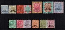 British Somaliland 1903 Victoria - Edward VII set, MH (SG18/30)