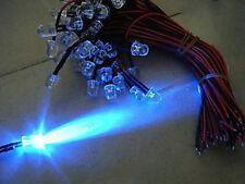 4pcs Super Bright 20000MCD 8mm 9v 12v Blue Lead Led,8BL