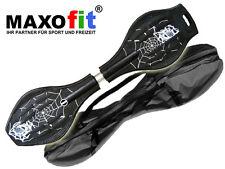Waveboard MAXOfit® XL Spider Black, bis 95 kg, mit Leuchtrollen