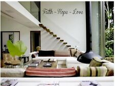 FAITH ~ HOPE ~ LOVE Vinyl Wall Art Decal Words Lettering Sticker Home Decor 24""