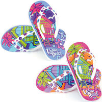 GIRLS URBAN BEACH FLIP FLOPS SANDALS SIZE UK 10 - 2 KIDS POOL BEACH HUT FW648