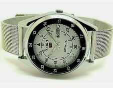RAILWAY TIME SEIKO 5 DAY DATE AUTOMATIC WHITE COLOR DIAL JAPAN MADE MAN'S WATCH