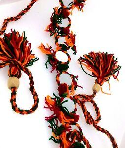 Banjara Style Pom Pom Tribal Dance Waist Belt Navratri Fashion Sewing Craft
