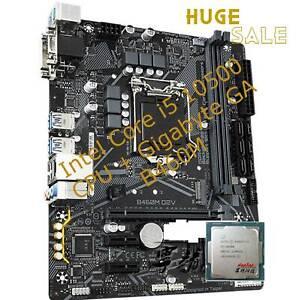 Intel Core i5 10500 CPU + Gigabyte GA B460M D2V Motherboard LGA 1200 No cooler