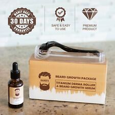 Beard Growth Kit - Derma Roller For Beard + Growth Serum