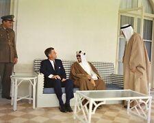 President John F. Kennedy with King Saud of Saudi Arabia New 8x10 Photo
