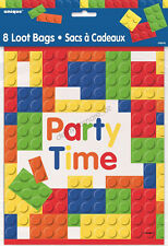 8 Building Blocks Lego Birthday Party Plastic Loot Lolly Treat Favours Bags Sack