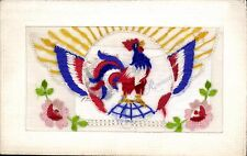 WW1 Silk. French Cockerel. Flap Design.