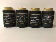 Miller Genuine Draft MGD Beer Can Bottle Cooler Koozie Coolie~ Set of 4 NEW F/S