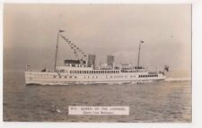 M.V. Queen Of The Channel, Queen Line Shipping Rp Postcard, Us006