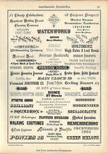Stampa antica ESEMPI PUBBLICITA' AMERICANA 1898 Old antique Print Advertising