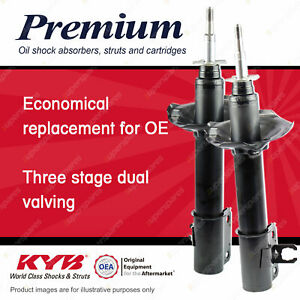 2 x Front KYB PREMIUM Strut Shock Absorbers for DAIHATSU Charade G11 1.0 I3 FWD