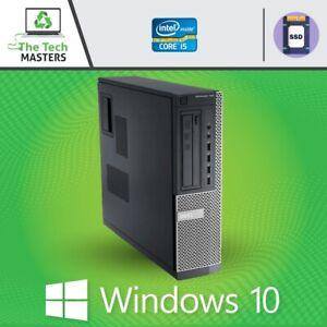 HP/Dell Intel i5 Quad Core 4/8/16GB RAM Desktop SFF PC With SSD, WiFi, Win 10