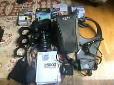 Nikon D5000 Bundle,3 Lenses&Filters&Hoods,ClikCase,Chargers,Batteries,Manuals