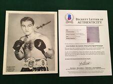 James BRADDOCK, LESNEVICH, ROSS signed autographed Rocky Marciano 8x10 BAS LOA