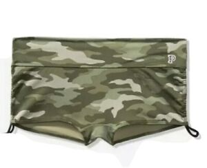 Victoria Secret Pink Gym To Swim Shorts Short For Gym Or Swim Camo Large