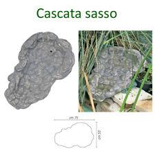 CASCATA ACQUA IN VETRORESINA EFFETTO SASSO ROCCIA PER LAGHETTO GIARDINO FONTANA