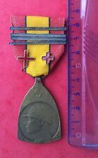 Belgique - Superbe méd.Commémorative 1914-18 - WW I -4 barettes et 2 Croix Rouge