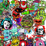 50 Horror Rocker Biker x Stickerbomb Retrostickern Aufkleber Sticker Mix Decals