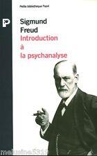 """Livre Psychanalyse """" Introduction à la Psychanalyse - Freud """"  ( No 2387 ) Book"""