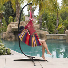 Combo Hammock With C Frame Stand Set Portable Hanging Chair Outdoor Patio  Swing