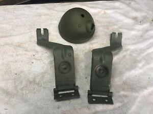 WW2 Ford GPW GPA Willys MB Army Jeep Slat Grill Headlight Bucket & Brackets