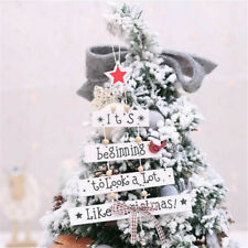 Christmas Wooden Ornaments Door Xmas Tree Pendant Hanging Home Party Decorations