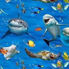 Elizabeth's Studio Selfies by Howard Robinson 1318 Blue Ocean Selfies Cotton