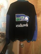 Vintage Seattle Seahawks Leather Suede Essex Bomber Jacket XXL- Excellent Cond.