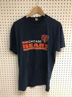 Vintage Chicago Bears 80's Paper Thin Screen Stars Single Stitch T-shirt Sz XL
