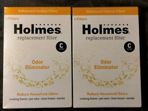 2 Pack (8 Filters Total) Of Pre-Filter C Replacement For Holmes - HAPF60