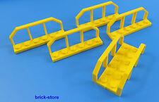 LEGO CHEMIN DE FER / train 1x6 jaune/voiture grille clôture / 6 pièces