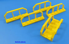 LEGO FERROVIA/TRENO 1x6 giallo/vagone INFERRIATA RECINTO / 6 pezzi