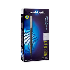 NEW uni-ball 60151 Roller Pens, Micro Point 0.5mm, Black, Package of 12 Quick