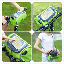 Bike Handlebar Riding Bag Touch Screen Phone Holder Bicycle Front Storage Pocket