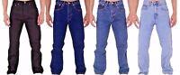 New Men's Tough Regular Fit Basic Work 5 Pocket Western Jeans All Waist Sizes