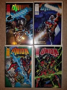 IMAGE COMICS: UNION #1-4 (1993) Signed by MARK TEXEIRA