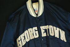 Vintage 90s Georgetown Hoyas Satin Jacket Navy Blue Mens XL Iverson Ewing