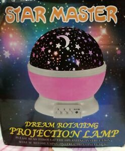 New Star Master Dream Rotating Color Changing Projection Lamp PINK Cord Included