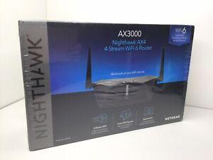 NETGEAR Nighthawk AX3000 4-Stream Dual-Band Wi-Fi 6 Router - RAX35-100NAS NEW