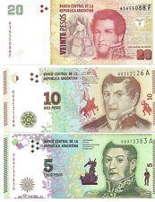 LOTE 3 BILLETES ARGENTINA 35 PESOS