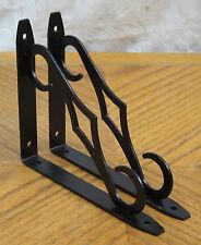 "Black Colonial Decorative 7""x5"" Steel Shelf Brackets! Lot 1/2/4/6/8/10/12 Metal"