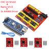 3D Printer CNC Shield V4 Engraver Expansion Board + Nano v3.0+ 3x A4988 Driver