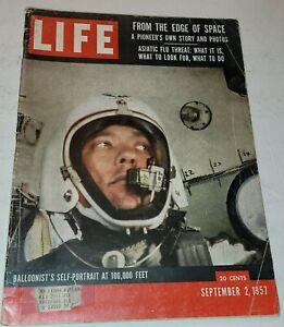 September 2, 1957 LIFE Magazine advertising adds FREE SHIPPING Sept 9 1 3 4 5 6