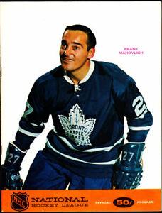 1968 Oakland Seals vs Toronto Maple Leafs Game Program vtg NHL Hockey California