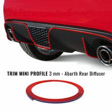 Profilo Adesivo per Paraurti Posteriore Fiat 500 Abarth, Rosso
