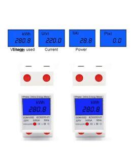 Digitale Stromzähler Wechselstromzähler Hutschiene KWh Zähler Wattmeter 80A DE
