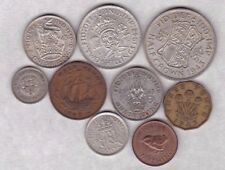 More details for 1943 george vi set of 9 coins in good fine or better condition