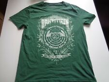"Rock & Metal grünes T-Shirt Rammstein ""Waldbühne Berlin 2016"" in gr XL-XXL"
