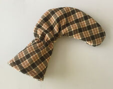 BROWN AND TAN TARTAN PLAID Golf Putter Head Cover / Putter Club Cover